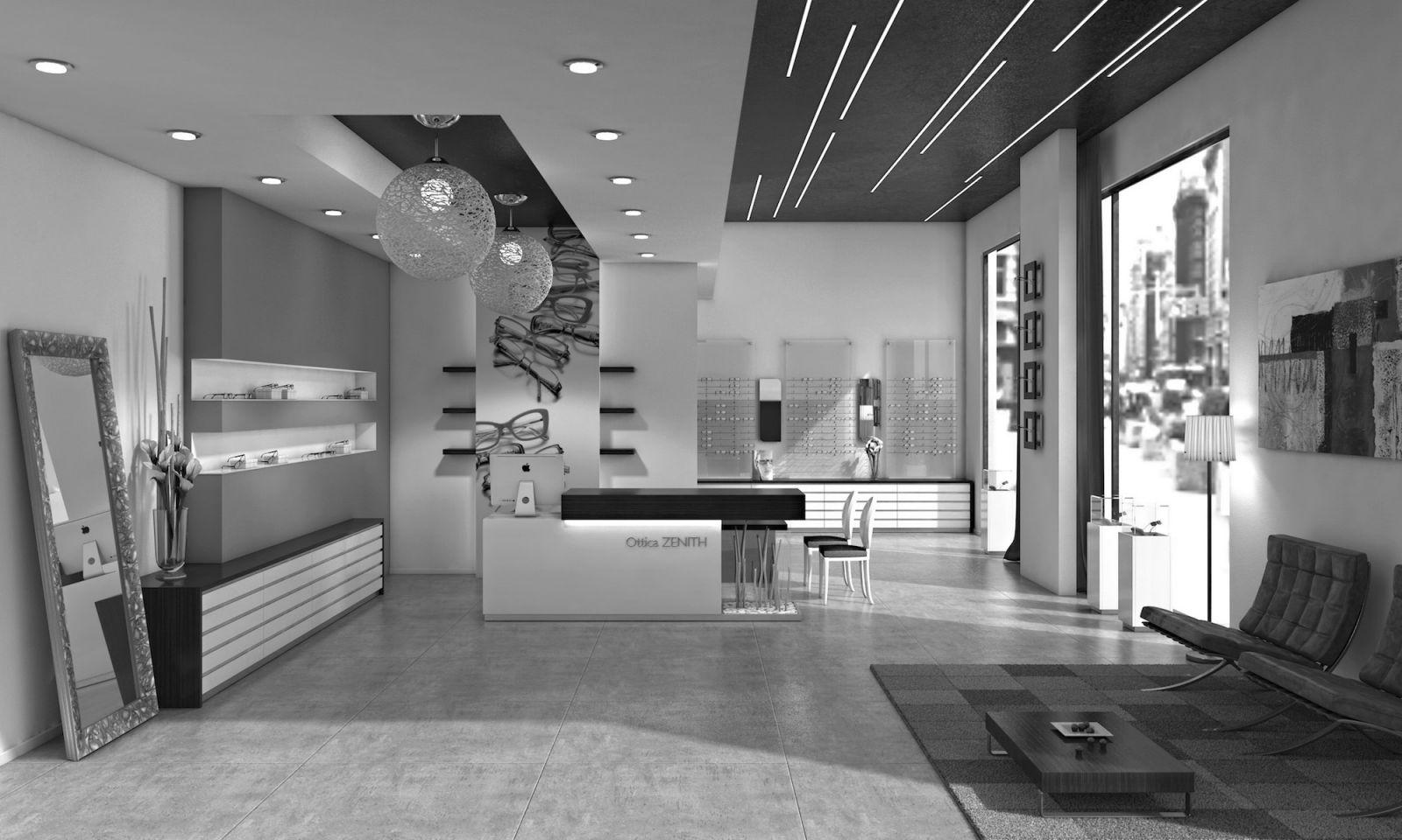 Progettazione e arredamento di design per ottici e for Progettazione di mobili online