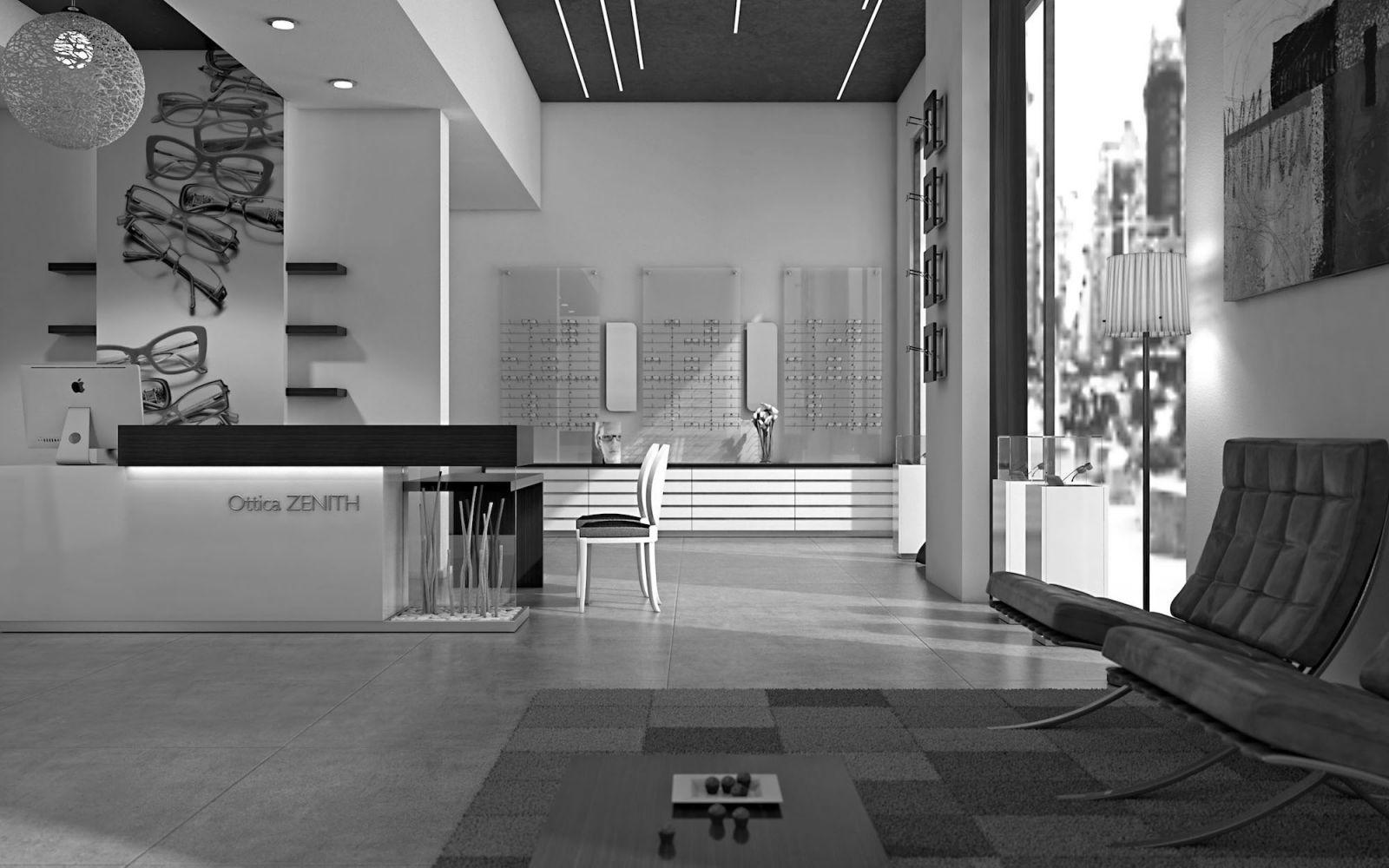 Progettazione e arredamento di design per ottici e for Negozi online design